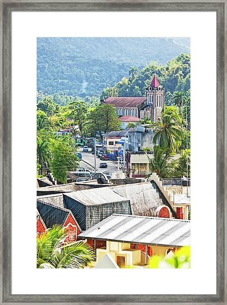 Caribbean Town Framed Print