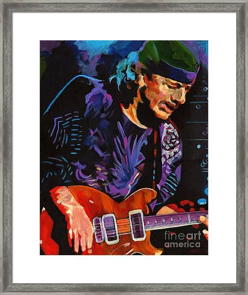 Supernatural.carlos Santana Framed Print