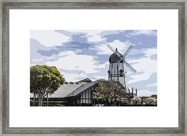 Carlsbad Windmill Framed Print