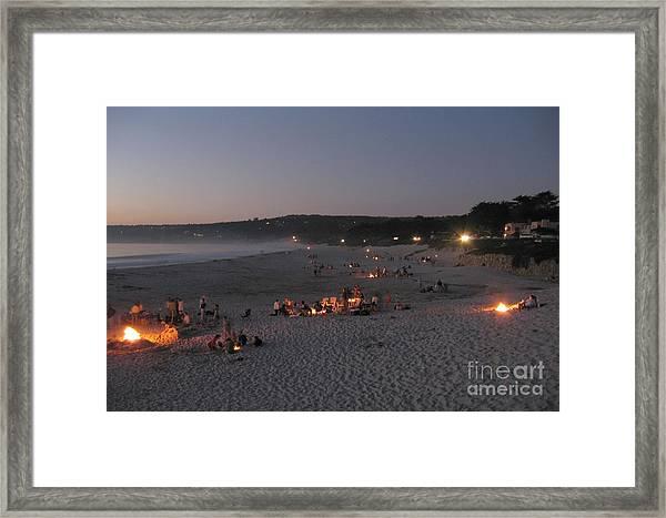 Carmel Beach Bonfires Framed Print