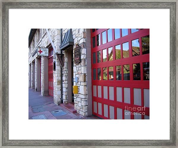 Carmel By The Sea Fire Station Framed Print