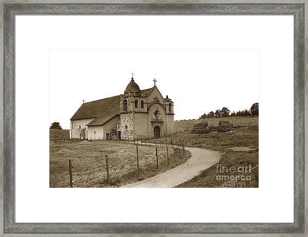 Carmel Mission Monterey Co. California Circa 1890 Framed Print