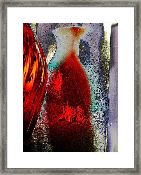 Carmellas Red Vase 1 Framed Print
