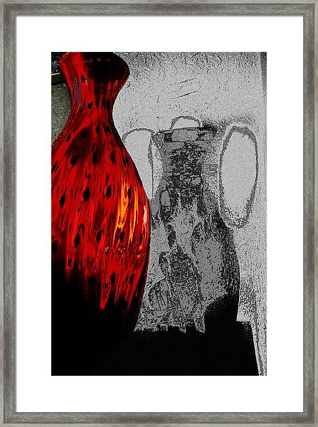 Carmellas Red Vase 2 Framed Print