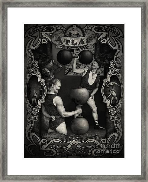 Carnival Banner - Atlas The Strong Man Framed Print