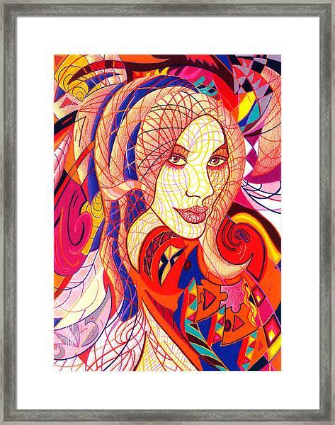 Carnival Girl Framed Print