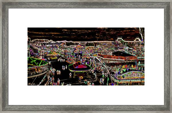 Carnival - Midway East Framed Print