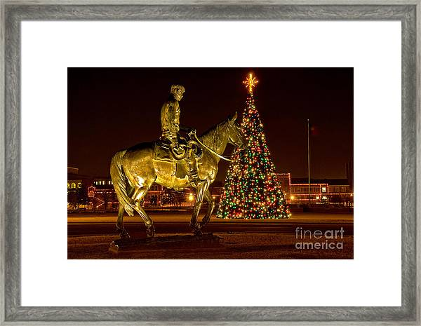 Framed Print featuring the photograph Carol Of Lights by Mae Wertz