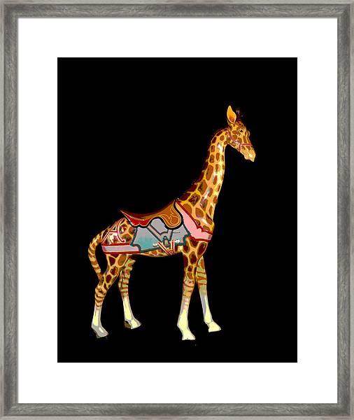 Carousel Giraffe Framed Print