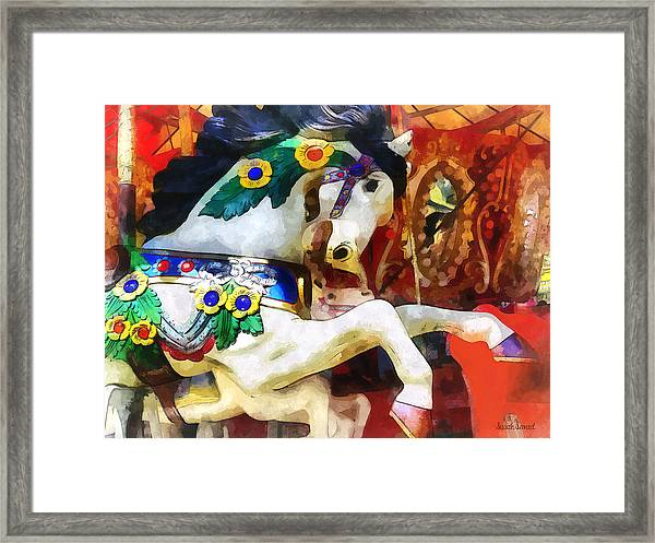 Carousel Horse Closeup Framed Print
