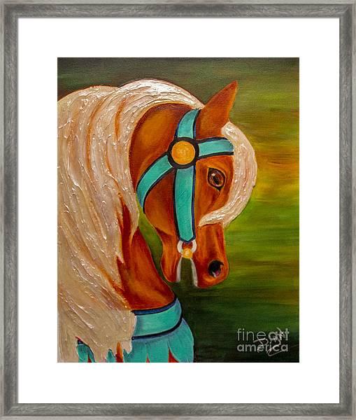 Carousel Horse Fantasy Framed Print