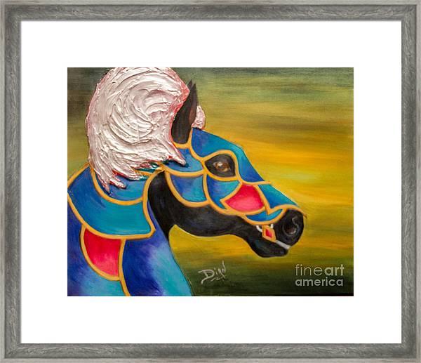 Carousel Horse-knightmare Framed Print
