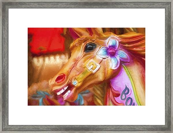 Carousel Horse. Framed Print