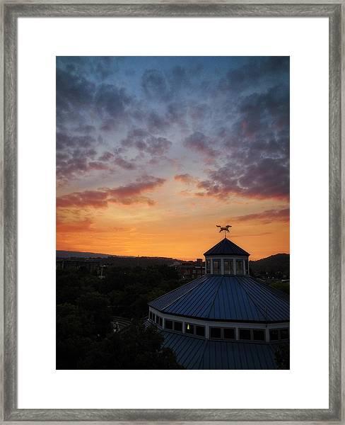 Carousel Sunset 2 Framed Print