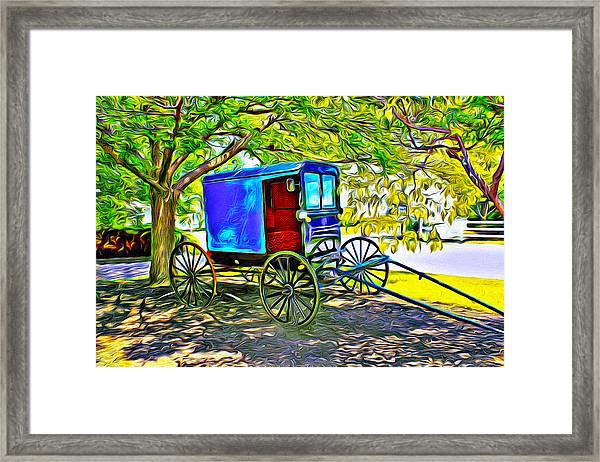 Amish Carriage Framed Print
