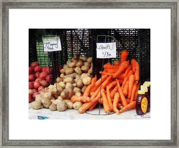 Carrots Potatoes And Honey Framed Print