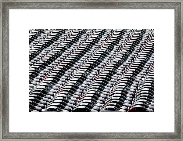 Cars,cars,cars Framed Print by Hans-wolfgang Hawerkamp