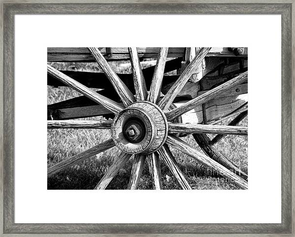 Framed Print featuring the photograph Cart Wheel by Mae Wertz