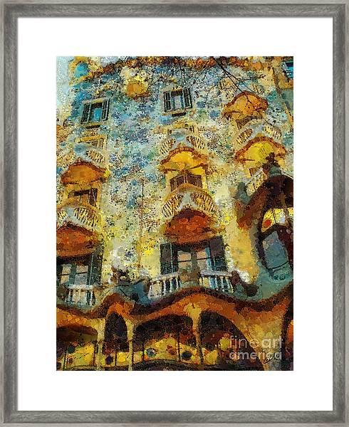 Casa Battlo Framed Print