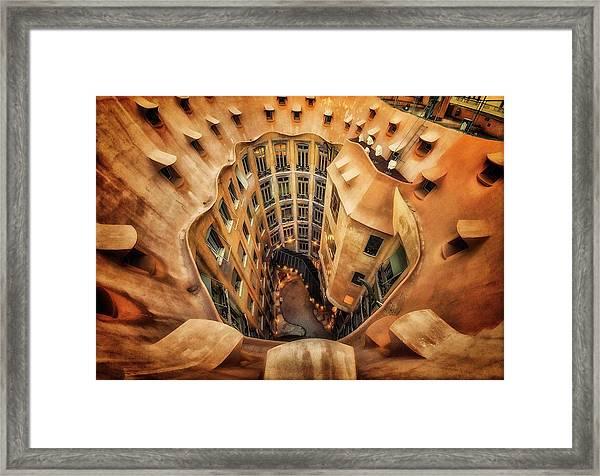 Casa Mila?, La Pedrera, Barcelona. Framed Print