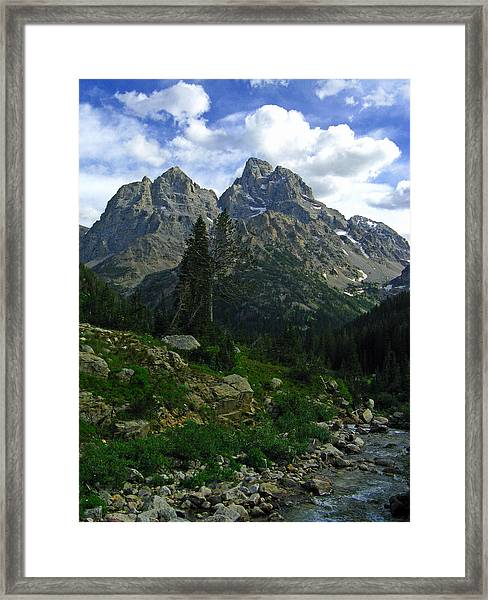Cascade Creek The Grand Mount Owen Framed Print