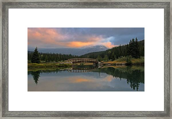 Cascade Ponds Sunrise Framed Print