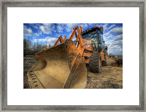 Case Backhoe Framed Print