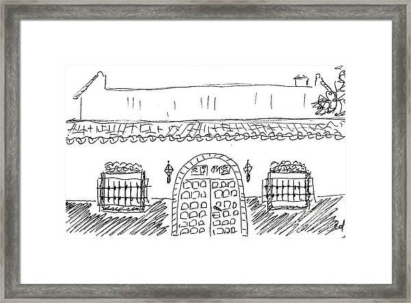 Caseta Del Psoe In Torremolinos Framed Print