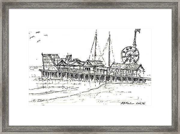 Casino Pier In Seaside Heights Nj Framed Print