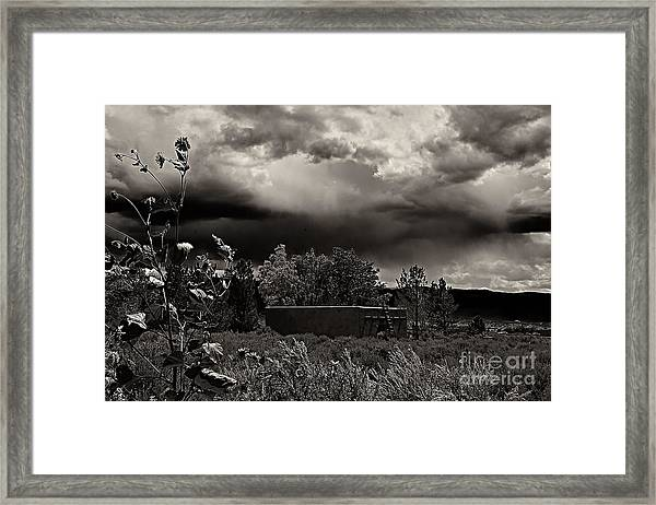 Casita In A Storm Framed Print