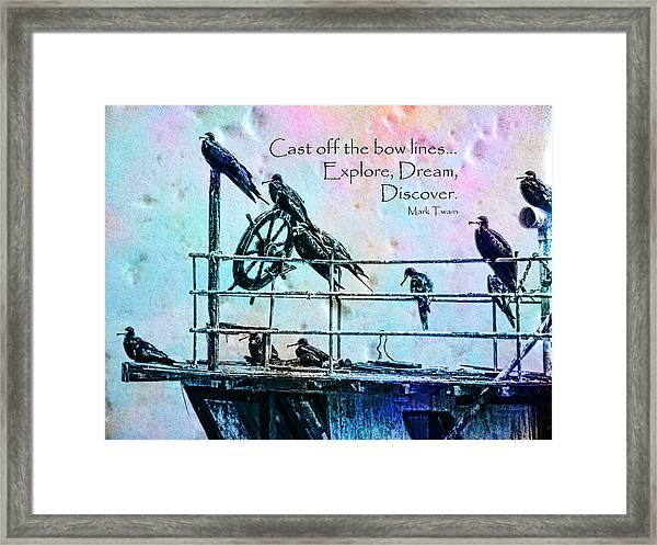 Cast Off Framed Print