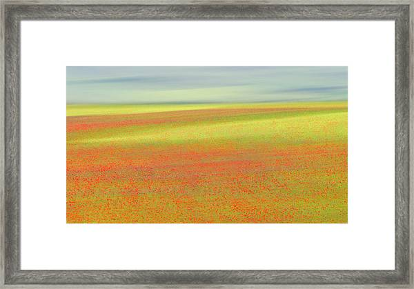 Castelluccio Colors Framed Print