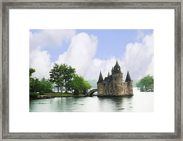 Castle In The St Lawrence Seaway Framed Print
