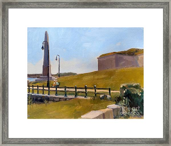Castle Island Day Framed Print