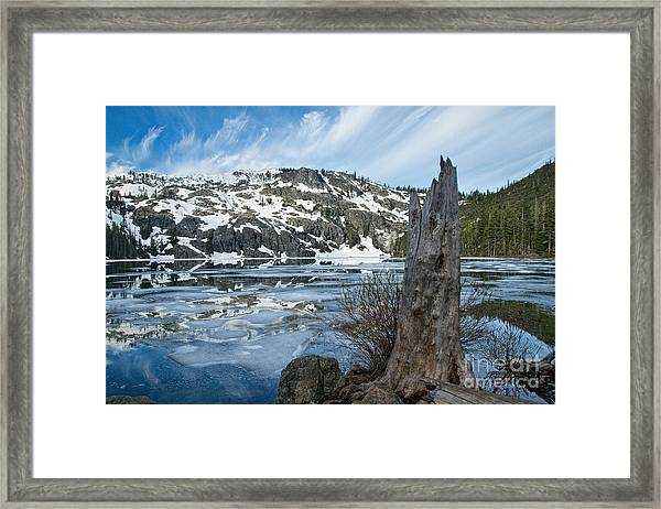 Castle Lake At Dawn Framed Print