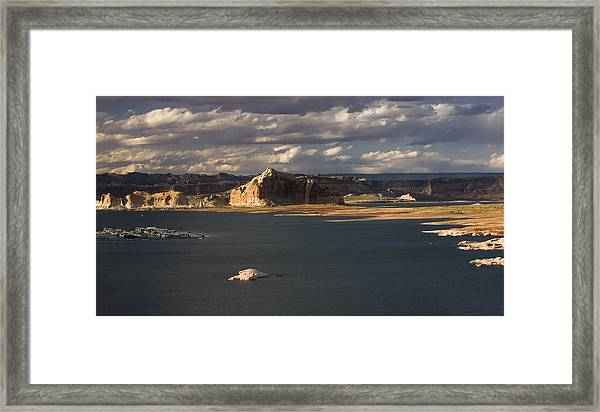 Castle Rock Sunset Framed Print