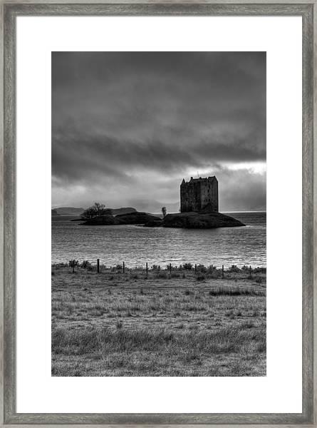 Castle Stalker Bw Framed Print