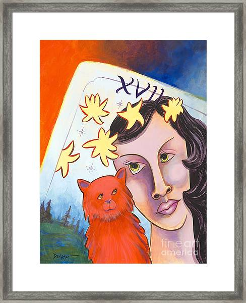 Cat Amore' Framed Print