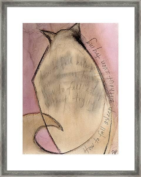 Cat In Beet 2 Framed Print