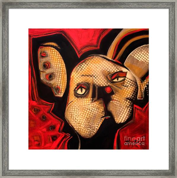 Cat With Attitude Framed Print