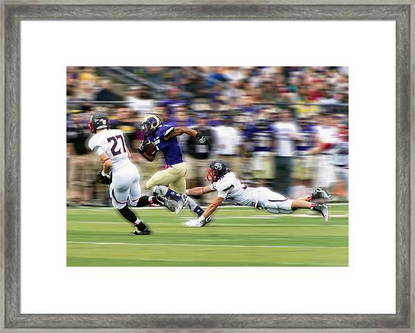 Catch Me If You Can Framed Print by Rob Li