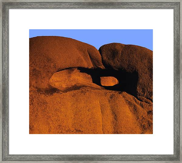 Catching A Red Eye Framed Print