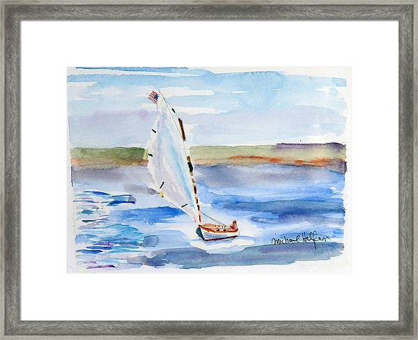 Catching The Wind Framed Print
