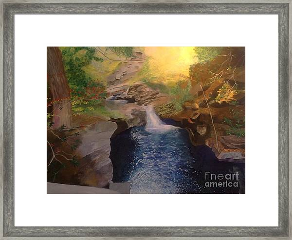 The Dark Gorge Framed Print
