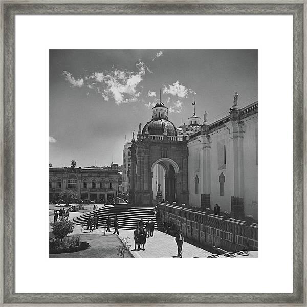 Cathedral In Plaza Mayor Framed Print