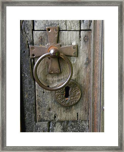 Cathedral Key Hole Framed Print