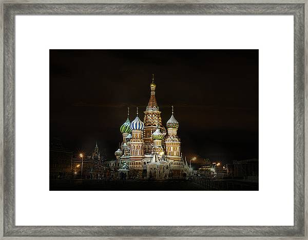 Cathedral Of Basil The Blessed Framed Print