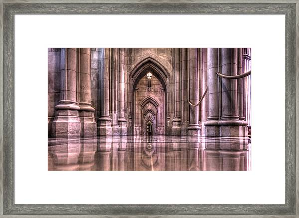 Cathedral Reflections Framed Print