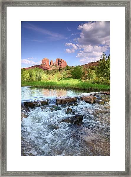 Cathedral Rock At Dusk Framed Print