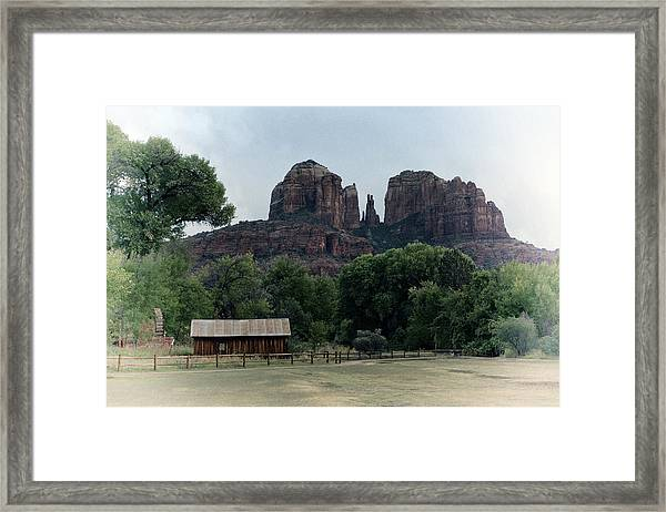 Framed Print featuring the photograph Cathedral Rock by Gigi Ebert